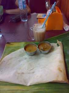 Kinabalu trip - Indian Restaurant - Prita bread and Teh Tarik