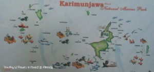 Indonesia - Central Java - Karimunjawa - Map of Karimunjawa islands