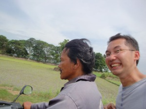Banten Lama Trip - Me riding an ojek