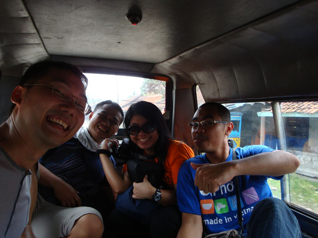 Banten Lama Trip - Us inside the angkot