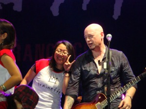 Train Jakarta Concert - Lina (Trainette) & Jimmy Stafford on stage