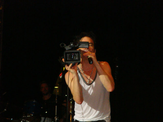 Train Jakarta Concert - Patrick (Pat) Monahan with the video camera