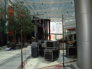 Train Jakarta Concert - Preparing the stage (the day before)