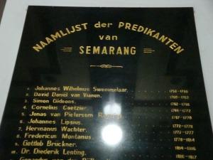 Semarang trip - Kota Tua - Gereja Mbledug - List of Priests