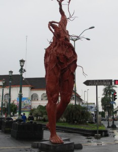 Jogja Trip - Jalan Malioboro - Big Leg (Photo Credit: Sinthya)
