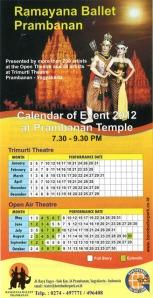 Sendratari Ramayana - Schedule