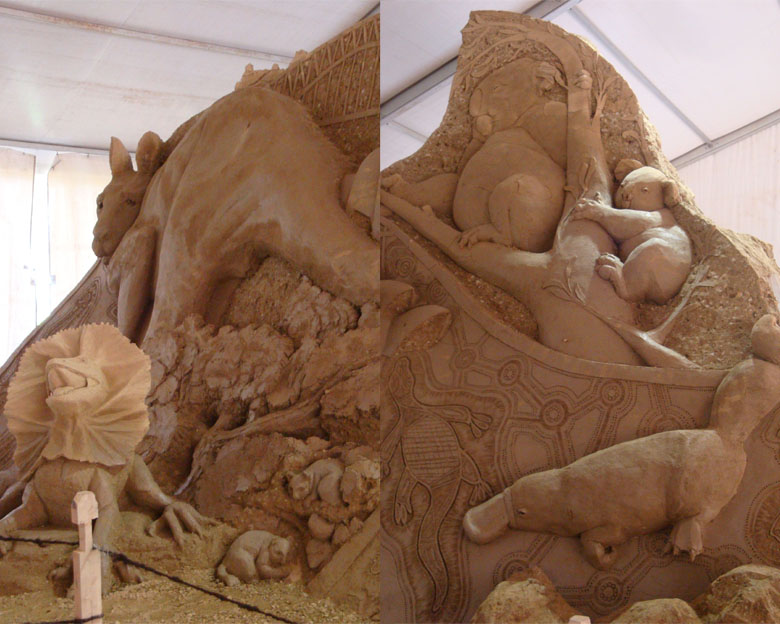 Sentul and Sand Sculpture - Australia - Wild Life