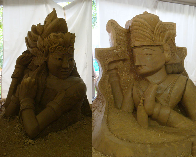 Sentul and Sand Sculpture - West Java - Wayang Golek