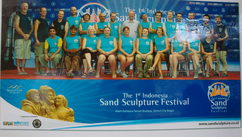 Sentul and Sand Sculpture - World Sand Sculpting Association (WSSA) Team