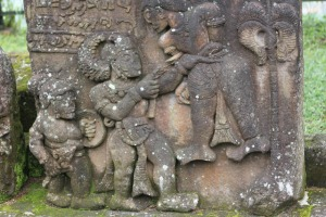 Solo trip - Candi Sukuh - Third Terrace - Some sculpture