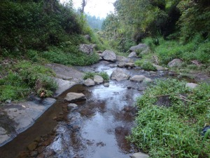 Solo trip - Going to Candi Kethek - A creek