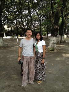 Solo trip - Keraton Kasunanan - Me & Sinthya with the batik trousers