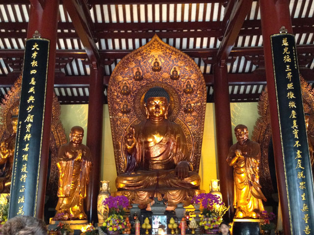 China trip - Guangzhou - Bright Filial Piety Temple - Guangxiao temple - The Hall of Mahavira - Buddha statue