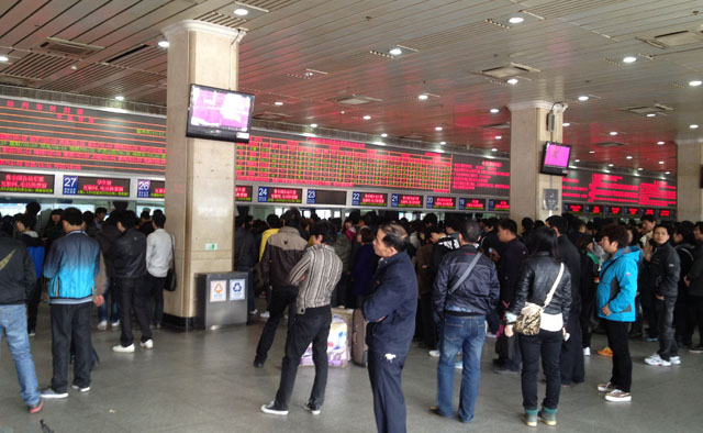 China trip - Guangzhou - Guangzhou East Railway Station - Inside the station