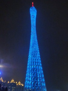 China trip - Guangzhou - Pearl River Night Cruise - Canton Tower