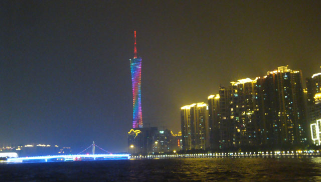 China trip - Guangzhou - Pearl River Night Cruise - Canton Tower & Pearl River Bridge