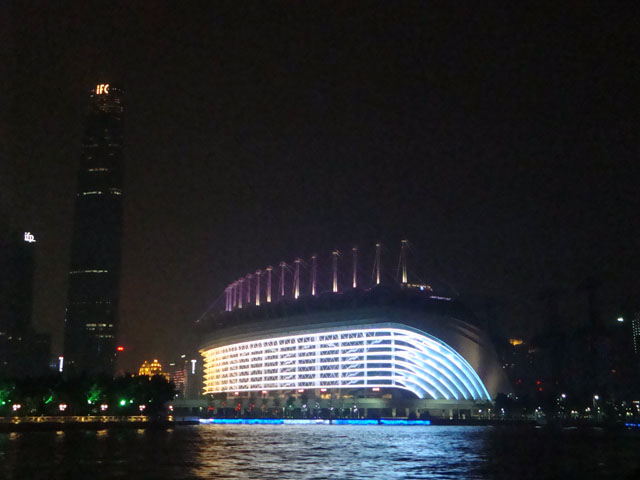 China trip - Guangzhou - Pearl River Night Cruise - Haixinsha Square