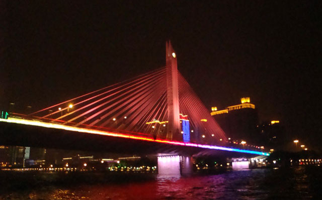 China trip - Guangzhou - Pearl River Night Cruise - Haiyin Bridge