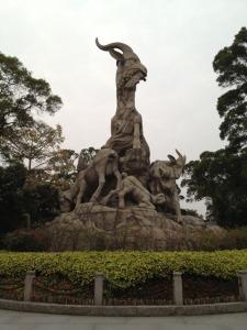 China trip - Guangzhou - Yuexiu Park - Five Goat (Ram) Statue