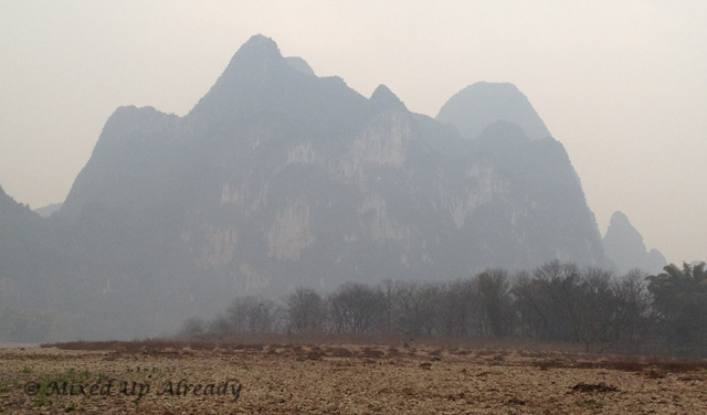 China trip - Guilin - Yang Di River (Li River) Cruise - 9 Horses Fresco Hill