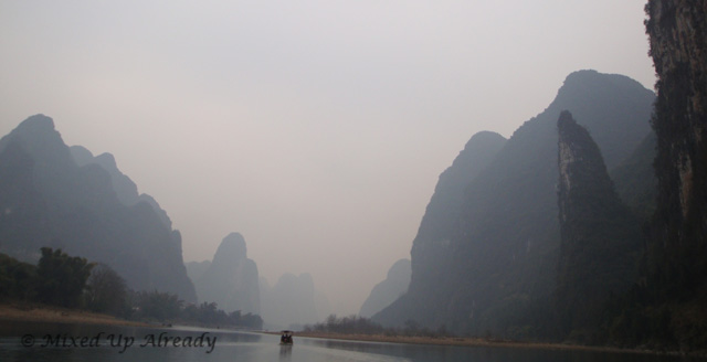 China trip - Guilin - Yang Di River (Li River) Cruise - A hill looks like dolphin