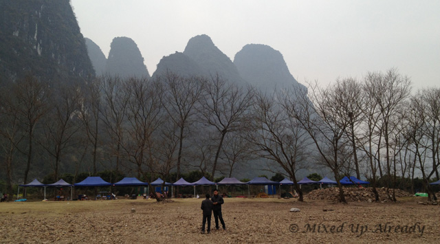China trip - Guilin - Yang Di River (Li River) Cruise - Tents