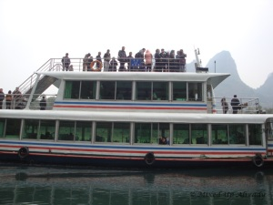 China trip - Guilin - Yang Di River (Li River) Cruise - The big boat