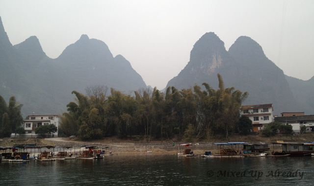 China trip - Guilin - Yang Di River (Li River) Cruise - The hills