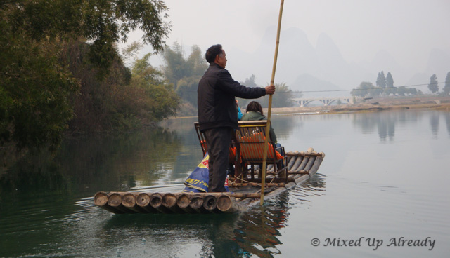 China trip - Guilin - Yulong (Yu Long) River Cruise - The bamboo boat