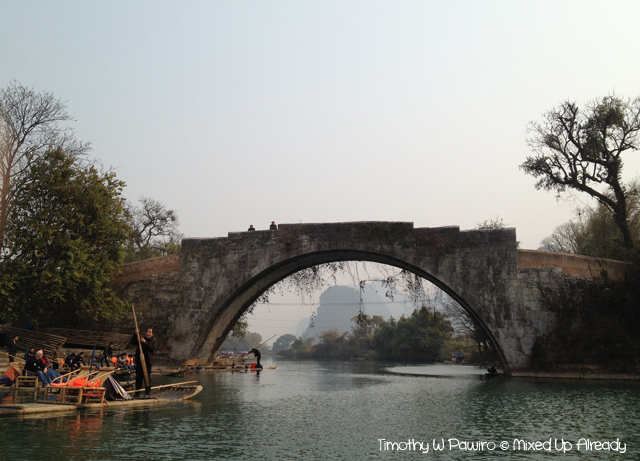 China trip - Guilin - Yulong (Yu Long) River Cruise - The bridge