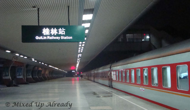 China trip - Sleeper train Guangzhou Guilin - Guilin train station