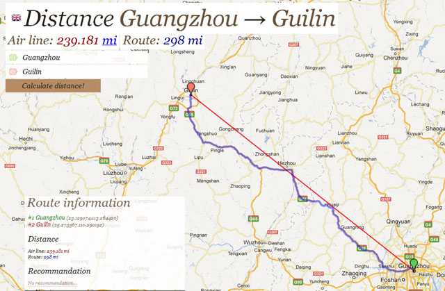 China trip - Sleeper train Guangzhou Guilin - The distance