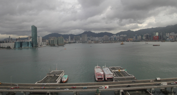 Hong Kong trip - Hong Kong Harbour (in the morning) - A View from Ibis Hotel North Point