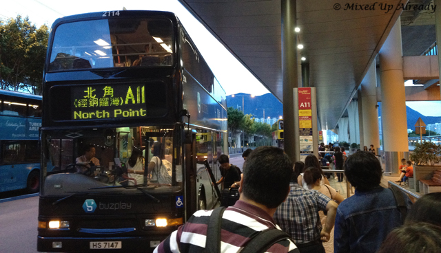Hong Kong trip - Hong Kong International Airport - Bus Stop