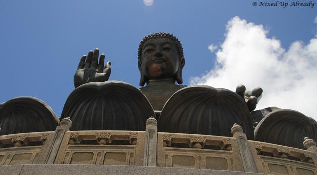 Hong Kong trip - Lantau Island - Ngong Ping Village - Tian Tan Buddha - Swastika sign