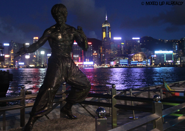 Hong Kong trip - Tsim Sha Tsui Waterfront - The Avenue of Stars - Bruce Lee bronze statue