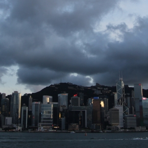 One shiny evening in Hong Kong