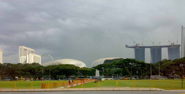 Singapore memory - Marina Bay Sands - 2009 - When it's still being constructed