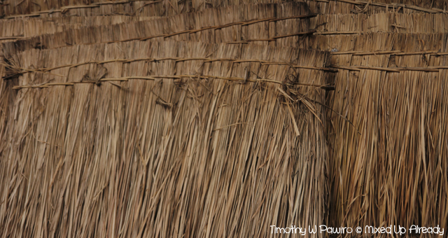 Lombok trip - Desa Sade - Thatch for the roof
