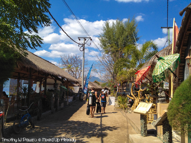 Lombok trip - Gili Air - The road in Gili Air