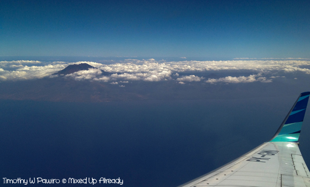 Lombok trip - On the plane - Gunung (Mount) Agung