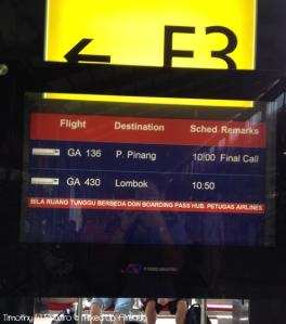Lombok trip - Soekarno Hatta Airport - Boarding time