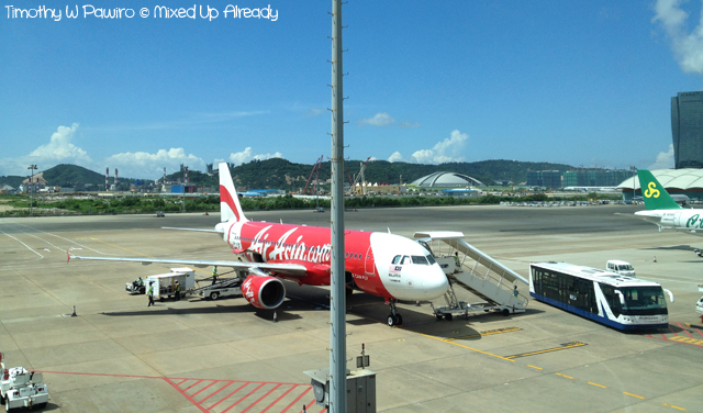Macau trip - Macau International Airport - AirAsia - Our plane