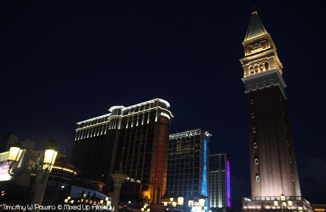 Macau trip - The tower in Venetian Macao and Conrad Macao