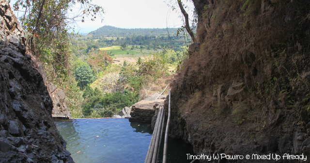 Lombok Gangga trip - Kerta Gangga Waterfall - The pond at the the second stage waterfall