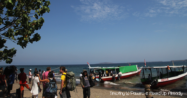 Lombok trip - Gili Trawangan - Bangsal port - Waiting for the boat