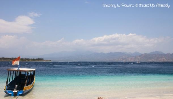 Lombok trip - Gili Trawangan - Facing the Lombok island