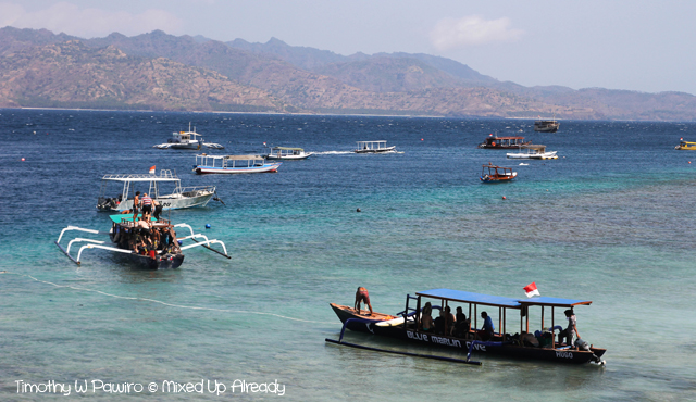 Lombok trip - Gili Trawangan - Going to the diving site
