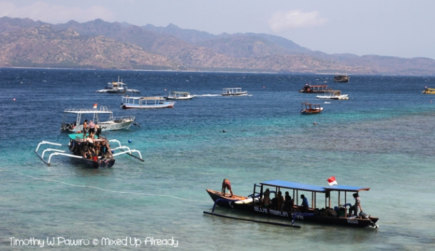 Lombok trip - Gili Trawangan - Going to the diving site
