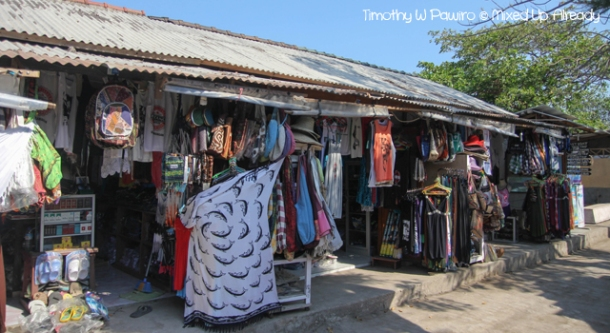 Lombok trip - Gili Trawangan - The souvenirs shops